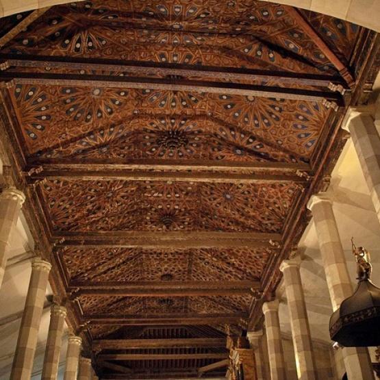 Santa María Nava, artesonado mudéjar