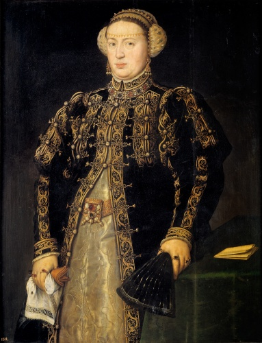 Catalina de Austria (retrato de Antonio Moro)